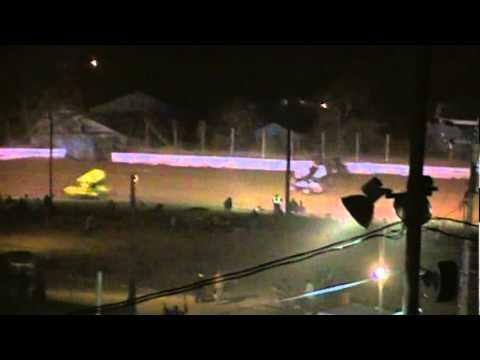 Port Royal Speedway 410 and 358 Sprint Car Highlights 3-17-12