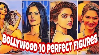 Top 10 Bollywood actress with the perfect figure||perfect body||ffittest actress of bollywood||