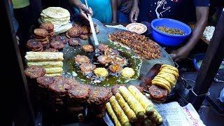 Ultimate Roadside Beef Tripe for Tk 20 | Cheapest Chicken Tikka,Beef Tripe | Egg Roll | kima Puri