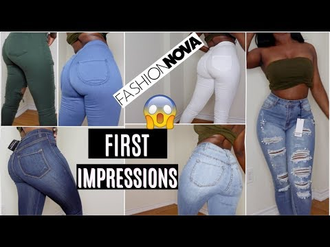 I TRIED FASHION NOVA JEANS FOR THE FIRST TIME! || PERFECT JEANS FOR SLIM THICK GIRLS OR NAH?!. http://bit.ly/2WCYBow