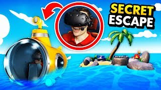 Hacking A Submarine To Escape Remote Island In Vr (island Time Vr Funny Gameplay)
