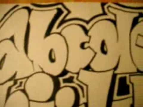 Graffiti Alphabet Messin Around RICO ONE Lowercase