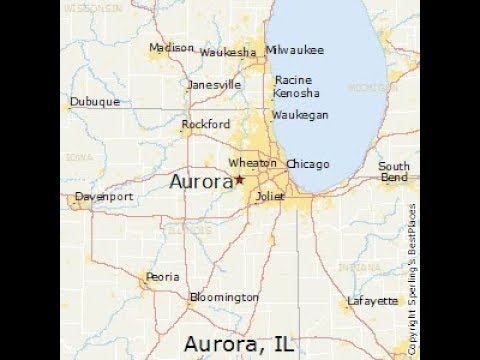 Aurora, IL (2nd Largest City In Illinois) Tour Downtown and the Fox River (August 18, 2017)