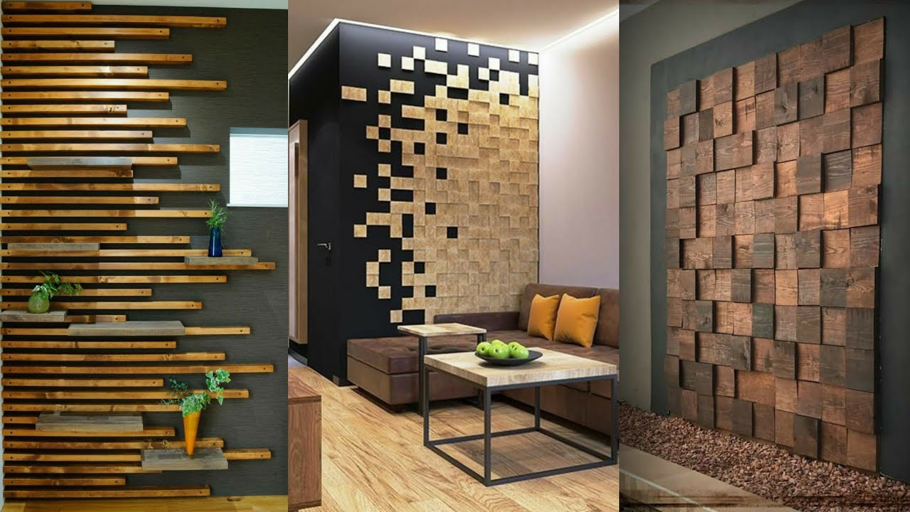 14 Wooden wall decorating ideas for living room interior wall design 14