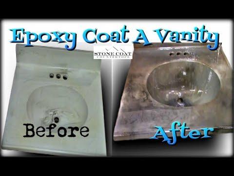 Epoxy Coat A Vanity