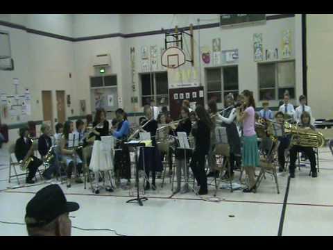 Bradford Woods elementary school band