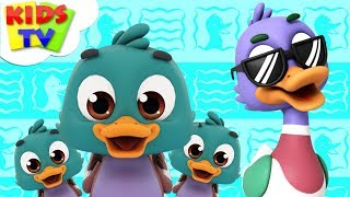 Funny Little Ducks | The Supremes | Cartoon Videos | Nursery Rhymes For Babies - Kids TV
