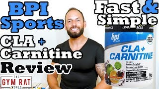 CLA + Carnitine |Weight Loss Supplement| BPI Sports Review