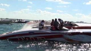 MTI and Donzi boats  in Poker Run 2010