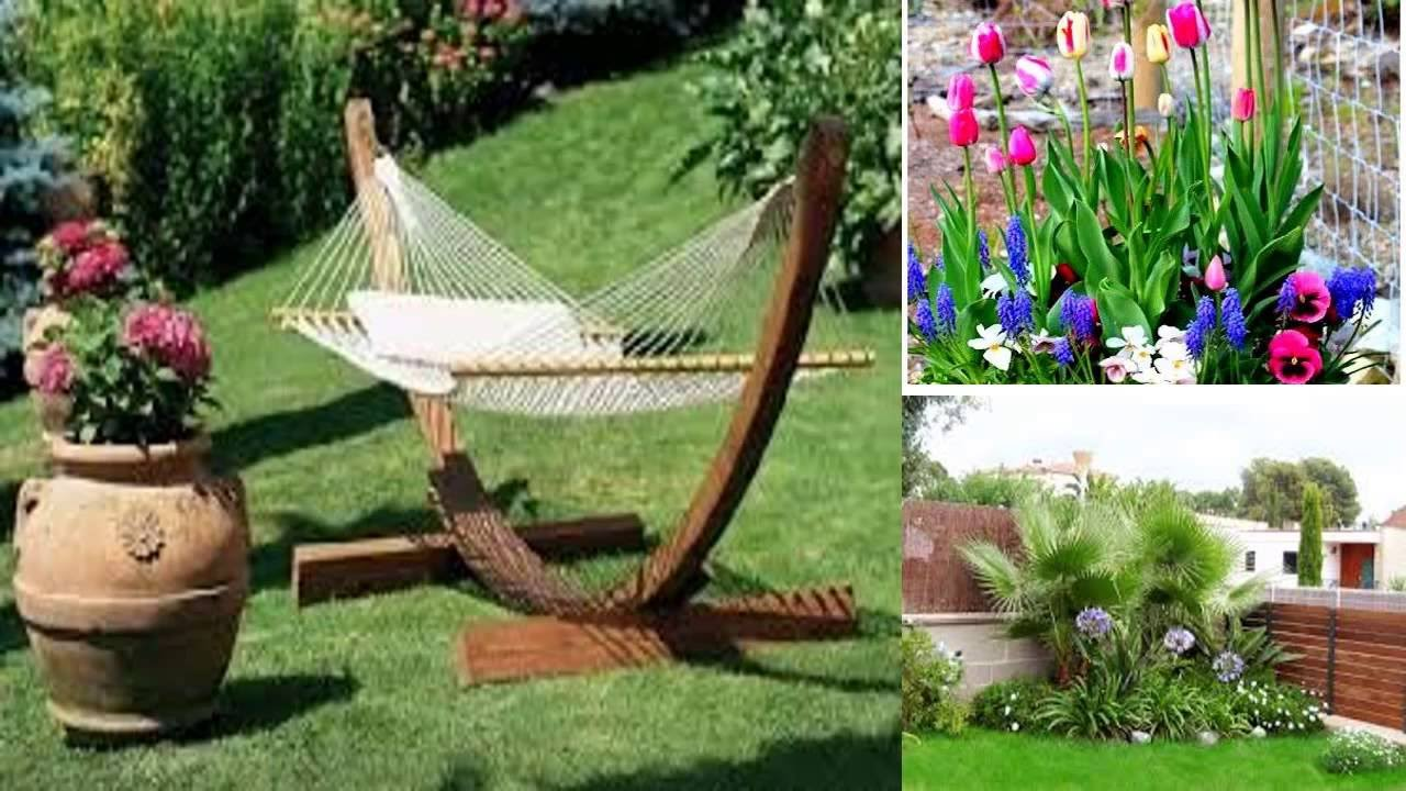 Ideas Para Jardines Pequenos Decorar Disenar O Construir Youtube - Decoracin-jardn