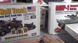 Вся моя коллекция военных наборов от Brickmania!  My brickmania collection!