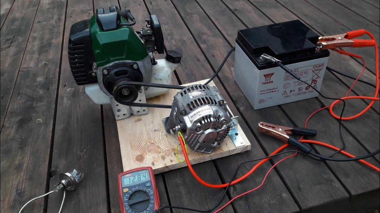 DIY How to make mini generator Alternator  12V DC