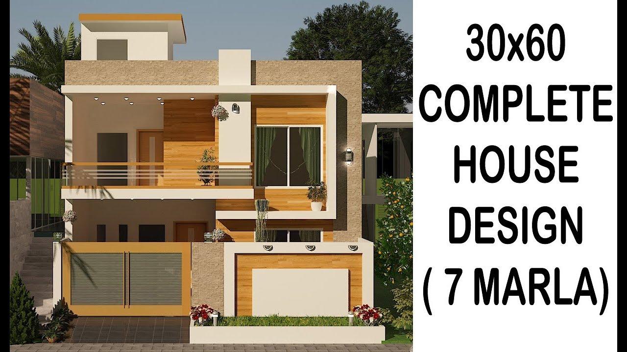 7 marla house design YouTube