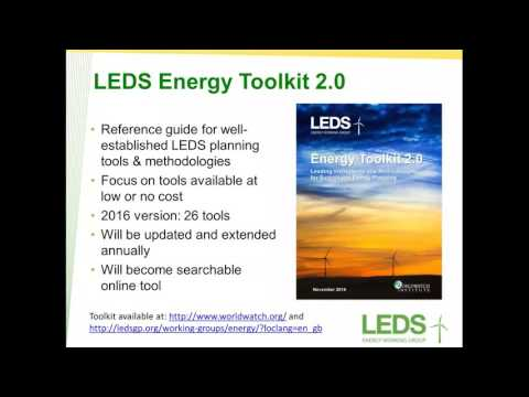 LEDS GP Energy toolkit 2.0: Leading instruments & methodologies for sustainable energy planning