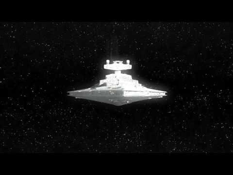 Star Destroyer exits light speed