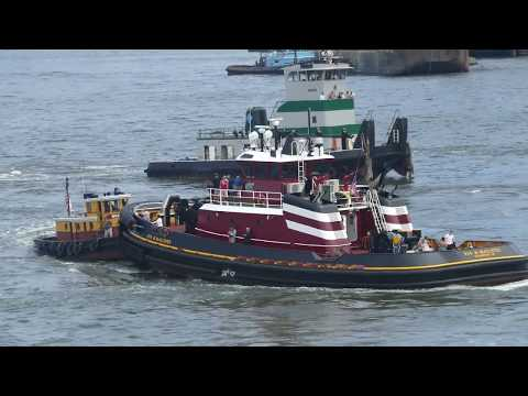 Nose To Nose Tugboat Pushing Competition