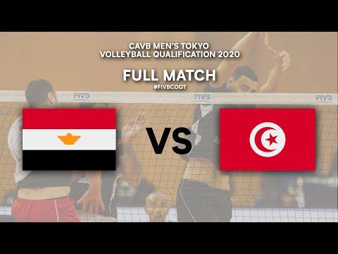 Download EGY vs. TUN - Full Match | CAVB Men's Tokyo Volleyball Qualification 2020