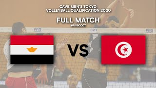 EGY vs. TUN - Full Match | CAVB Men's Tokyo Volleyball Qualification 2020