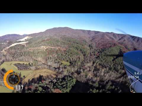 Landing Avery County Airport 7A8