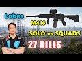 Lobes - 27 KILLS - M416 - SOLO vs SQUADS - PUBG