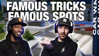 Famous Tricks At Famous Spots In SKATER XL !!