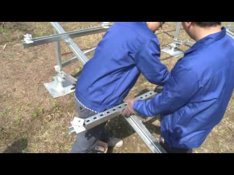 Installation video of ground solar mounting structure --CY-ZJ01