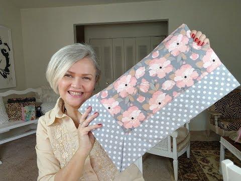 Easy Self Binding Baby Blanket.