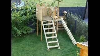 Kinder Holzspiel-/kletterturm