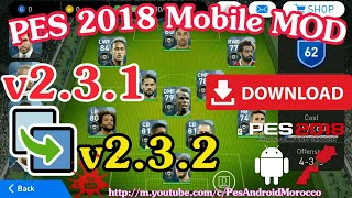 PES 2018 Mobile MOD v2.3.2 Exclusive