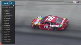 Last restart and battle for the lead - NASCAR Cup Series 2018 Bristol