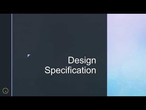 Web Design Specification