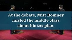 Mitt Romney Misled the Middle Class About his Tax Plan