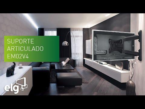 Em02v4 suporte articulado para tv lcd led plasma 3d 26 - Soporte articulado tv ...