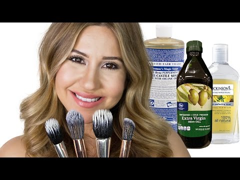 How To Make Brush Cleaner - Clean Your Makeup Brushes Naturally
