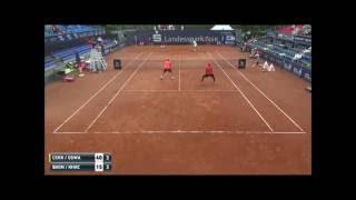 Karen Khachanov answers a phone call during a tennis match - Braunschweig ATP Challenger 2016
