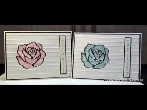 No.356 - Ribbon Rose Wonder Card - UK Stampin' Up! Independent Demonstrator