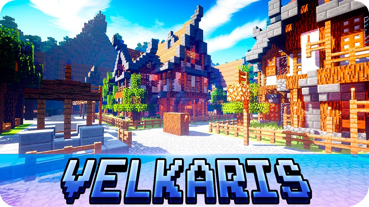 Minecraft medieval town + map download youtube.