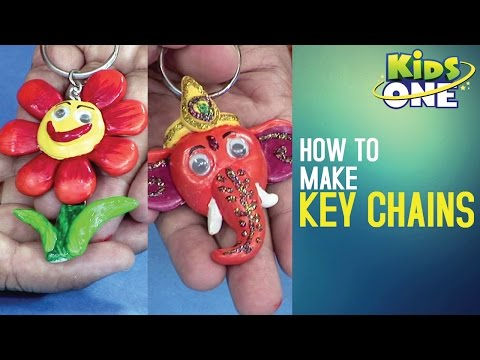 How to Make Key Chains | Easy Crafts for Kids | Creative Corner - KidsOne