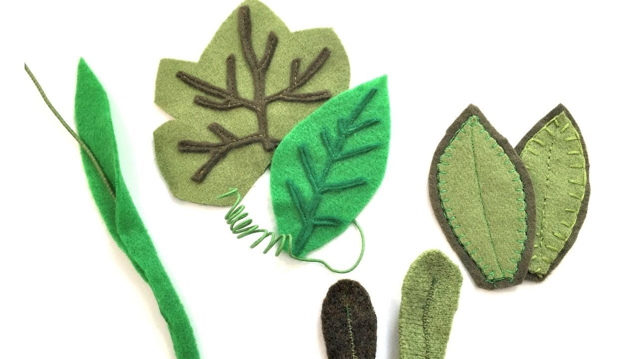 DIY Felt Leaves | 4 Charming Styles and Techniques