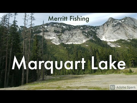 Fishing At Marquart Lake Near Merritt BC
