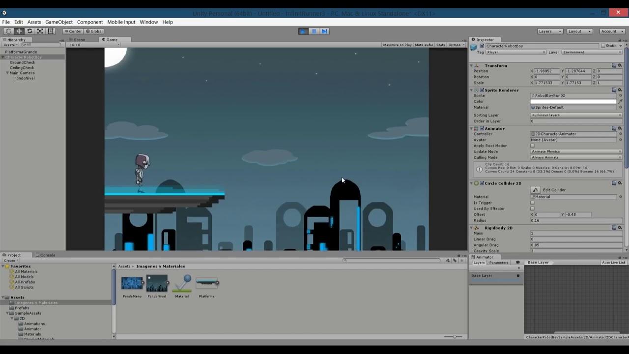Como Hacer Un Juego 2d Speedrunner Unity 5 Youtube