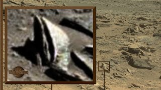 Martian With Elongated Skull On Mars
