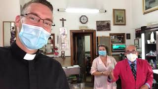 Greetings from Rome with Father Frei - Fr. Frei introduces us to his favorite Barber in Rome!