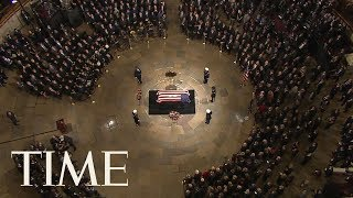 George H.W. Bush Honored At U.S. Capitol Rotunda For State Funeral | TIME