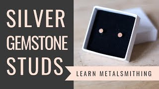 How to make silver earrings with gemstones. Jewelry making tutorial