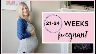 21-24 WEEKS PREGNANT | TWIN GIRLS INDUCTION DAY, MULTIPLE ULTRASOUNDS & HUGE BELLY SHOT