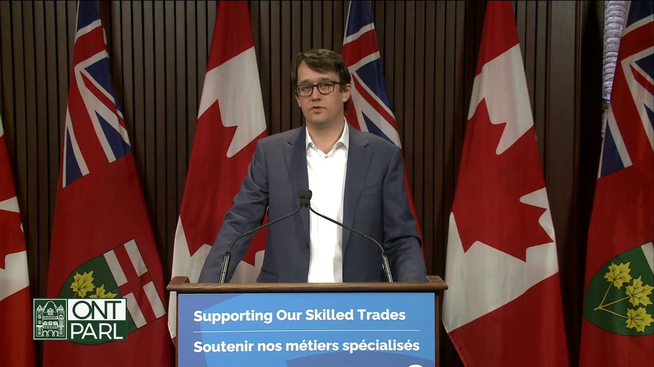 Minister McNaughton makes an announcement at Queen's Park | March 5