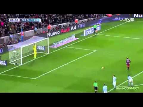 Leo Messi vs Celta Vigo rzut karny : )