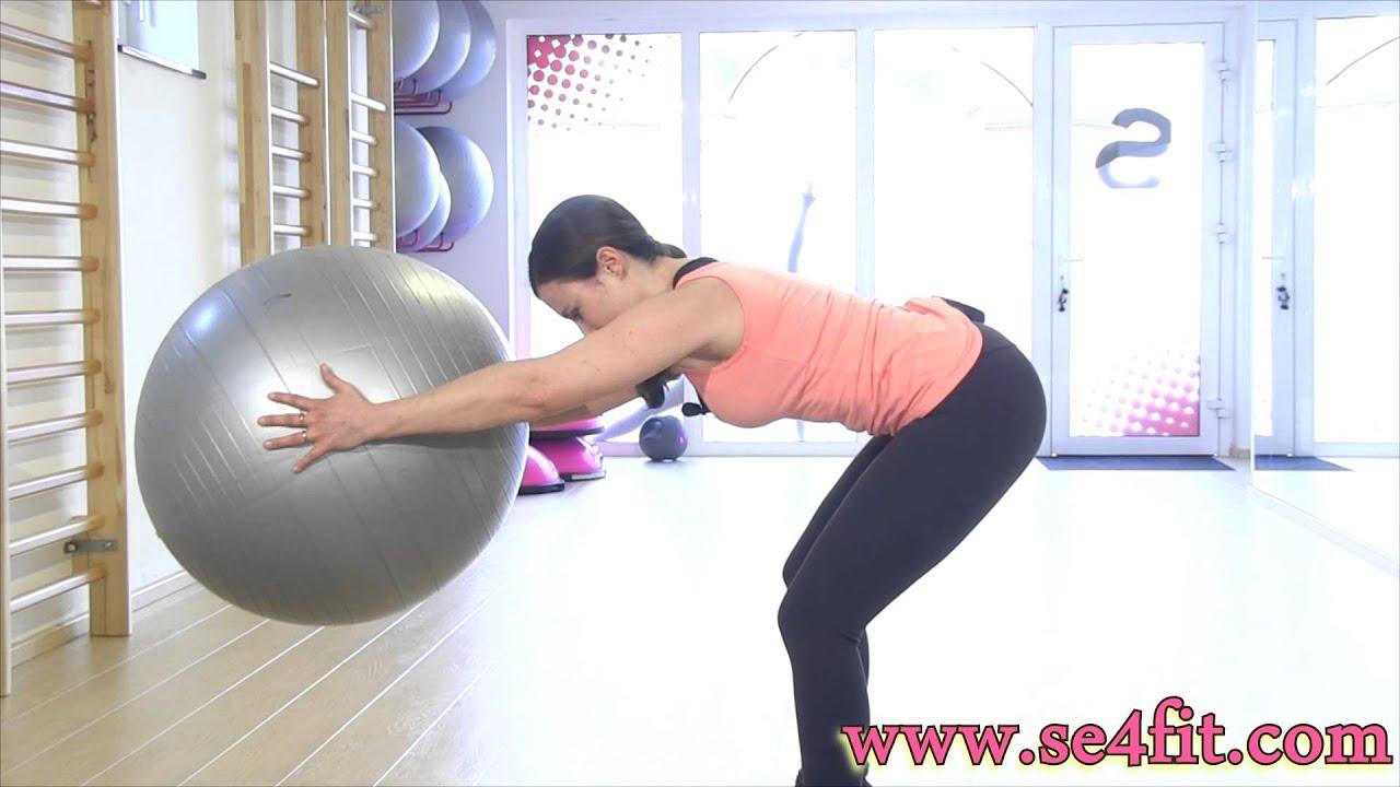 gym contre le mal de dos et pour une belle posture fitball youtube. Black Bedroom Furniture Sets. Home Design Ideas