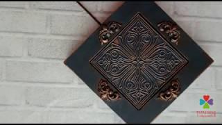 Декор плитки Каф'декоръ меловыми красками